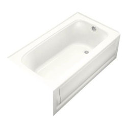 "KOHLER - KOHLER K-1150-RA-0 Bancroft Alcove Bath Tub with Integral Apron - KOHLER K-1150-RA-0 Bancroft 60"" x 32"" Alcove Bath Tub with Integral Apron, Tile Flange, and Right-Hand Drain in White"