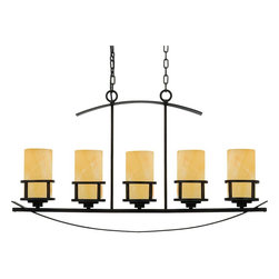 Quoizel Lighting - Quoizel Lighting KY540IB Kyle Island Billiard Fixture With 5 Lights - For over seventy years, Quoizel lighting has been dedicated to the design and production of its diversified line of fine lighting products and home accessories.