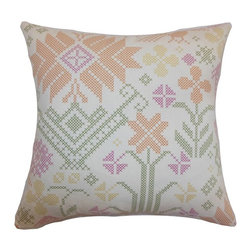 Pillow Collection - The Pillow Collection Dori Cross Stitch Pillow - P18-D-21030-MULTI-C100 - Shop for Pillows from Hayneedle.com! All the charm of hand embroidery with none of the work The Pillow Collection Dori Cross Stitch Pillow is as comforting as Grandma. Made of 100% soft cotton this quaint square pillow features a plush 95/5 feather/down insert for the ultimate in softness. The cheery homey cross-stitch print features a vibrant and sweet look. Available in a variety of color options you can get the perfect look.About The Pillow CollectionIdentical twin brothers Adam and Kyle started The Pillow Collection with a simple objective. They wanted to create an extensive selection of beautiful and affordable throw pillows. Their father is a renowned interior designer and they developed a deep appreciation of style from him. They hand select all fabrics to find the perfect cottons linens damasks and silks in a variety of colors patterns and designs. Standard features include hidden full-length zippers and luxurious high polyester fiber or down blended inserts. At The Pillow Collection they know that a throw pillow makes a room.