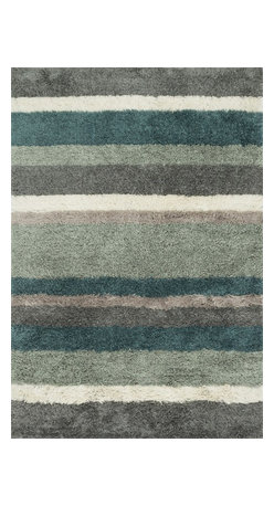 """Loloi Rugs - Loloi Rugs Garden Shag Collection - Spa / Multi, 3'-6"""" x 5'-6"""" - Introducing one of our most inventive collections; the first-ever indoor/outdoor shag. Hand woven in India of 100% polyester, Garden Shag offers the same softness and textural appeal of our other shag collections, except this yarn is treated to withstand all of mother nature's elements including sunshine, rain, and dirt. And because the look is so versatile, Garden Shag looks equally at home as an easy-to-clean rug in the dining room or sunroom as it does outdoors."""