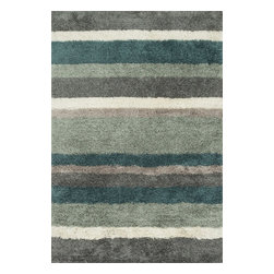 """Loloi Rugs - Loloi Rugs Garden Shag Collection - Spa / Multi, 7'-10"""" x 7'-10"""" Round - Introducing one of our most inventive collections; the first-ever indoor/outdoor shag. Hand woven in India of 100% polyester, Garden Shag offers the same softness and textural appeal of our other shag collections, except this yarn is treated to withstand all of mother nature's elements including sunshine, rain, and dirt. And because the look is so versatile, Garden Shag looks equally at home as an easy-to-clean rug in the dining room or sunroom as it does outdoors."""