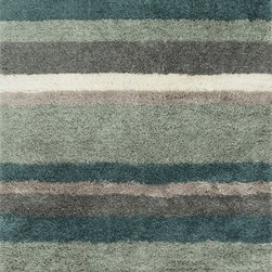 "Loloi Rugs - Loloi Rugs Garden Shag Collection - Spa / Multi, 7'-10"" x 7'-10"" Round - Introducing one of our most inventive collections; the first-ever indoor/outdoor shag. Hand woven in India of 100% polyester, Garden Shag offers the same softness and textural appeal of our other shag collections, except this yarn is treated to withstand all of mother nature's elements including sunshine, rain, and dirt. And because the look is so versatile, Garden Shag looks equally at home as an easy-to-clean rug in the dining room or sunroom as it does outdoors."