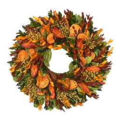 Autumn Solstice Wreath - Wreaths add texture and warmth to any space. A wreath on the front door can set the mood for what guests can expect when they walk inside your home.