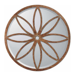 Paragon - Aged Round Petal Motif - Mirrors Decorative - Each product is custom made upon order so there might be small variations from the picture displayed. No two pieces are exactly alike.