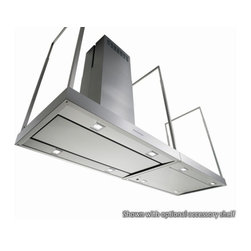 """36"""" Europe - Island Range Hood - Professional style + Italian design. Fingerprint-Free Stainless Steel + 940-CFM blower. Ideal solution for ultra-modern kitchens. Multiple sizes available. Visit site for more info, or call 1-800-230-3565."""