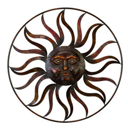 Benzara - Metal Sun Wall Decor Feel The Warmth Of Sun - Wall decor with great decor sense. Support your existing wall decor with 97917 Metal SUN WALL DECOR. It is an excellent anytime low priced wall decor upgrade option for everyone. Just have a look over this, you will fall in instant love with this sun sculpture. Sun shape makes it versatile. It can be used outdoor also.