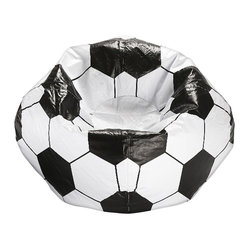 Ace Bayou - Ace Bayou Soccer Ball Matte Bean Bag - Durable vinyl fabric and double stitched seams for durablility , Matte finish, Ergonomic seating position, Great for reading, playing video games, watching TV, relaxing.