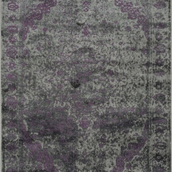 "Loloi Rugs - Loloi Rugs Elton Collection - Pewter / Purple, 9'-2"" x 12'-2"" - Designed to look like a modern version of yesterday's classics, the Elton Collection features intentionally distressed pattern that matches well with contemporary to transitional spaces. Elton is power loomed in Egypt of polypropylene and polyester for great durability and easy maintenance. Available in six sizes including a runner and a scatter."