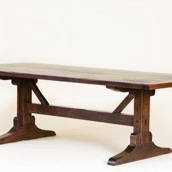 Dining Tables by Mortise & Tenon - American Primitive Trestle Table