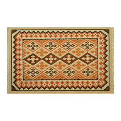 Area Rug, 100% Wool 5'X8' Camel Anatolian Kilim Hand Woven Flat Weave Rug SH6452 - Soumaks & Kilims are prominent Flat Woven Rugs.  Flat Woven Rugs are made by weaving wool onto a foundation of cotton warps on the loom.  The unique trait about these thin rugs is that they're reversible.  Pillows and Blankets can be made from Soumas & Kilims.