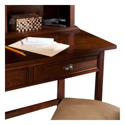 Holly and Martin - Mendell Desk & Hutch - Espresso - Elegant yet simple design makes this espresso desk with hutch the perfect solution for your home office. It offers both style and storage for productivity at its best.