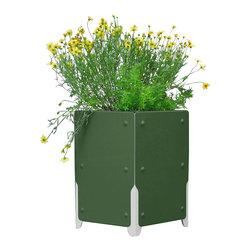 SHIFT_DESIGN - Bolton Short Planter, Forest Green - Outdoor Planter