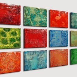 Custom Mix and Match Paintings - Original abstract painting - oil painting - mixed media - colorful painting -sculpted textured painting -abstract art -40x24
