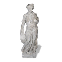 Amedeo Design, LLC - USA - Four Seasons Fall Statue - Medium - Our Four Season Statues are truly beautiful and have tremendous versatility inside or out. Being made from ResinStone, it is also easily moved to different locations, yet by looking at it you would think it is made from stone. Though they look like ancient European & Mediterranean designs in carved stone, our products are made of lightweight weatherproof ResinStone. So authentic, you actually have to lift them to convince yourself they're not stone at all! Made in USA.
