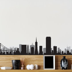 San Francisco Skyline Vinyl Wall Decal or Car Sticker SS065EY; 36 in. - Vinyl Wall Decals are an AWESOME way to bring a room to life!