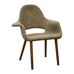 Mid-Century Accent Chairs - Set of 2 - Every room has one of them: The stand-out piece that gets all the attention. With a cool cut-out back, sturdy wood frame and legs, and in a classic tan twill fabric, these chairs have all the makings of a star. But this mid-century inspired duo's claim to fame is in their timelessness. They're the ones who'll greet your guests year after year.