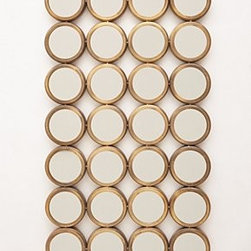 "Anthropologie - Floor-Length Porthole Mirror - Iron, glass36.5""H, 27.25""W, 1.5""DImported"