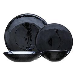 Murano Black Dinnerware -