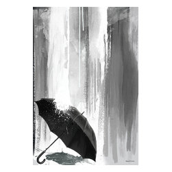 """Maxwell Dickson - Maxwell Dickson """"Can You Stand The Rain"""" Modern Canvas Wall Art Print Artwork - We use museum grade archival canvas and ink that is resistant to fading and scratches. All artwork is designed and manufactured at our studio in Downtown, Los Angeles and comes stretched on 1.5 inch stretcher bars. Archival quality canvas print will last over 150 years without fading. Canvas reproduction comes in different sizes. Gallery-wrapped style: the entire print is wrapped around 1.5 inch thick wooden frame. We use the highest quality pine wood available."""