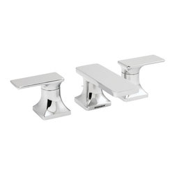 Speakman - Speakman The Edge Collection 8 Inch Widespread Faucet in Polished Chrome - Your bathroom needs a break from tradition. Revamp your decor with the unique, square corners of The Edge Widespread Faucet. The sharp, dynamic contours on this modern widespread faucet team with other fixtures from The Edge family to provide an innovative facelift to your bathroom's more traditional design. The Edge Widespread Faucet is constructed of solid, lead free brass, ensuring trusted durability that's synonymous with the Speakman name. The Edge widespread bathroom faucet features a WaterSense approved 1.5 gpm flow rate and is easy to install. The Edge Widespread Faucet is Ffeatured in both Polished Chrome and Brushed Nickel finishes.