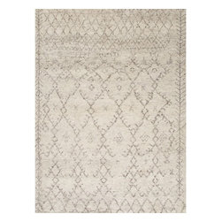 Jaipur Rugs - Jaipur Rugs Hand-Knotted Soft Hand Wool Ivory/Gray Area Rug, 8 x 10ft - A distinct play of warp and weft, bringing forth a timelessly fashionable add-on to any space.