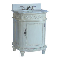 "Benton Collection - 26-Inch Traditional Elegance Catalina Bathroom Sink Vanity - Dimensions: 26 x 22 x 34""H  approx."