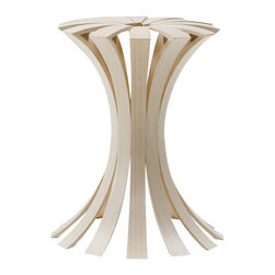 EcoFirstArt - SPRING Laminated Bamboo Stool - Made of sustainable bamboo, Spring takes the typical stool model and elevates it to artful with its flexible, springy design. The contemporary lines and curves will make it bloom in either your home or office.
