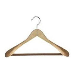 Proman Products - Libra Wide Shoulder Suit Hanger - Set of 12 - Set of 12. Natural Finish. Case Size: 16 in. L x 16 in. W x 8 in. H (8 lbs.)