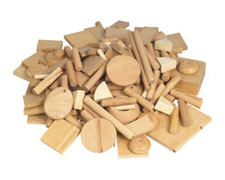 Guidecraft - Guidecraft Mixed Hardwood Vari-Design Wood - Guidecraft - Educational Toys - G402A - Exciting variety of wood shapes and sizes provide endless opportunities for creative expression: sort color build match glue sand and nail.