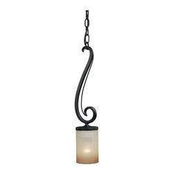 Vaxcel Lighting - Vaxcel Lighting P0030 Elba 1 Light Mini Pendant - Product Features: