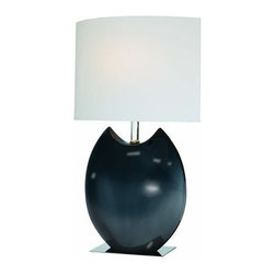 Lite Source - Lite Source LS-21335 Ceramic Table Lamp with Off White Fabric Shade from the Spa - Ceramic Table Lamp with Off White Fabric Shade from the Spazio Series