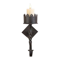 EuroLux Home - New 1-Light Wall Sconce Iron Hand-Crafted - Product Details