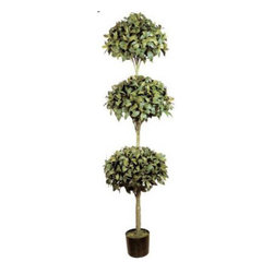 Oriental-Décor - 6' Triple Ball Artificial Coffee Leaf Tree - A truly unique artificial tree, the 6 foot Triple Ball Artificial Coffee Leaf Tree is one of the most interesting choices in this collection. It features a stylish three-layer topiary design of lush coffee leaves reaching up to six feet in height. The biggest topiary at the bottom measures 20 inches, with the entire artificial plant made from high-quality silk and polyester. Live coffee trees may be potted and used for interior decorating. However, these potted plants usually require lots of water and ideal exposure to sunlight. Get the lush, beautiful look of a real coffee plant, rendered in an interesting design with this 6 foot Triple Ball Artificial Coffee Leaf Tree. Ideal for residential and office interiors, this statuesque artificial tree is perfect for parties and weddings as well. A great way to invite the look of the outdoors into any interior setting, this synthetic topiary tree is certainly a unique investment for anyone!