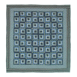 Patch Quilts - Blue Log Cabin Duvet Cover Twin 70 x 88 - - Beautifully crafted cover with intricate patchwork .Bedding ensemble from Patch Magic  - The Name for the finest quality quilts and accessories  - Machine washable.Line or Flat dry only Patch Quilts - DCTBLC