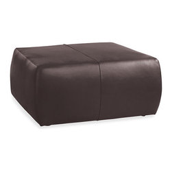 Lind Leather Ottoman - Perfect as a cocktail table, Lind also doubles as a handy footstool or extra seat.