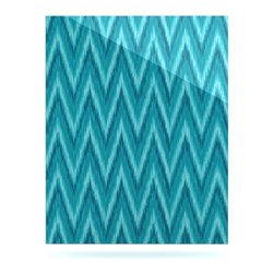 "Kess InHouse - Amanda Lane ""Island Blue"" Aqua Navy Metal Luxe Panel (16"" x 20"") - Our luxe KESS InHouse art panels are the perfect addition to your super fab living room, dining room, bedroom or bathroom. Heck, we have customers that have them in their sunrooms. These items are the art equivalent to flat screens. They offer a bright splash of color in a sleek and elegant way. They are available in square and rectangle sizes. Comes with a shadow mount for an even sleeker finish. By infusing the dyes of the artwork directly onto specially coated metal panels, the artwork is extremely durable and will showcase the exceptional detail. Use them together to make large art installations or showcase them individually. Our KESS InHouse Art Panels will jump off your walls. We can't wait to see what our interior design savvy clients will come up with next."