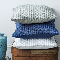 Harbour Rope Pillow Covers - If you like this blue trend but don't necessarily want to commit to a large piece, pillows are the perfect accent. I am drawn to the texture of the rope pillow; it can add great depth to a bedding ensemble or sofa.