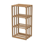 "EcoWineracks 18.34"" Wide Lower Rectangular Bin Rack, Golden Color, Clear Acrylic - EcoWineracks are the worlds only traditional style wine racks made from non-forested and sustainable bamboo. Bamboo is superior to wood in strength and durability, is non-warping and has consistent grain."