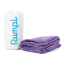"""Rumpl, Inc. - King, Thistle/White, 102"""" X 84"""", Paria - Replace your tired comforter with something a little sleeker, cozier, and more high-performance. Warm, water resistant, machine washable, and durable. Comes with a recycled cotton carry bag. Just give it one night and you'll be hooked..."""
