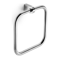 WS Bath Collections - WS Bath Collections Muci Towel Ring - Towel Ring in Polished Chrome
