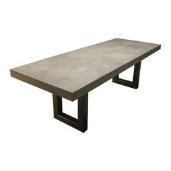Zen Concrete Dining Table from Trueform Concrete