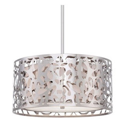 Kovacs - Kovacs P7985-077 2 Light Drum Pendant from the Layover Collection - Two Light Drum Pendant from the Layover CollectionFeatures: