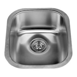 "Miseno - Miseno 15"" Undermount Single Basin Stainless Steel Kitchen / Bar Sink 18G - Included Free with Your Miseno Sink:"