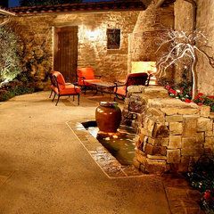 mediterranean patio by AMS Landscape Design Studios, Inc.