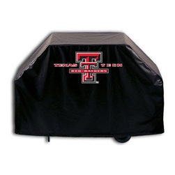 """Holland Bar Stool - Holland Bar Stool GC-TXTech Texas Tech Grill Cover - GC-TXTech Texas Tech Grill Cover belongs to College Collection by Holland Bar Stool This Texas Tech grill cover by HBS is hand-made in the USA; using the finest commercial grade vinyl and utilizing a step-by-step screen print process to give you the most detailed logo possible. UV resistant inks are used to ensure exeptional durablilty to direct sun exposure. This product is Officially Licensed, so you can show your pride while protecting your grill from the elements of nature. Keep your grill protected and support your team with the help of Covers by HBS!"""" Grill Cover (1)"""