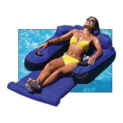 Swimline Ultimate Floating Lounger - Relaxing is serious business which is why the SplashNet Xpress Ultimate Floating Lounger is covered by the same strong nylon fabric used by the rafts and tubes towed by speedboats. Featuring head arm and leg rests this rigid lounge chair supports your body for hours of lasting comfort. Just like with any sport professional relaxation requires proper hydration and that's why there's a built-in cup holder. About SplashNet XpressSplashNet Xpress is dedicated to providing consumers with safe high-quality pool products delivered in a fast and friendly manner. While it's adding new product lines all the time SplashNet Xpress already handles pool maintenance items toys and games cleaning and maintenance devices solar products and aboveground pools.