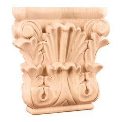 Hardware Resources - Acanthus Capital 4-3/4 x 1-1/4 x 4-3/4 Species: Oak - Acanthus Capital 4 3/4 x 1 1/4 x 4 3/4 Species: Oak