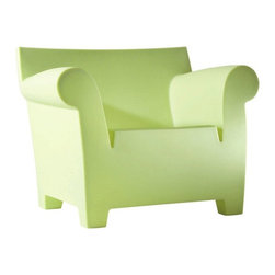 Kartell - Bubble Club Armchair, Matte Light Green - Designed by Philippe Starck.