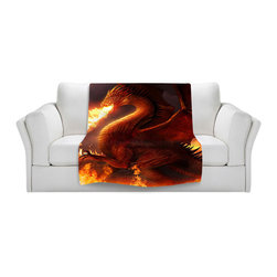DiaNoche Designs - Throw Blanket Fleece - Lord of the Dragons - Original Artwork printed to an ultra soft fleece Blanket for a unique look and feel of your living room couch or bedroom space.  DiaNoche Designs uses images from artists all over the world to create Illuminated art, Canvas Art, Sheets, Pillows, Duvets, Blankets and many other items that you can print to.  Every purchase supports an artist!