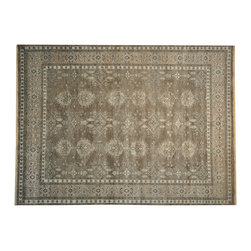 Silver Wash Oushak Rug 9'x12' 100% Wool Hand Knotted Natural Dyes SH14622 - Hand Knotted Oushak & Peshawar Rugs are highly demanded by interior designers.  They are known for their soft & subtle appearance.  They are composed of 100% hand spun wool as well as natural & vegetable dyes. The whole color concept of these rugs is earth tones.